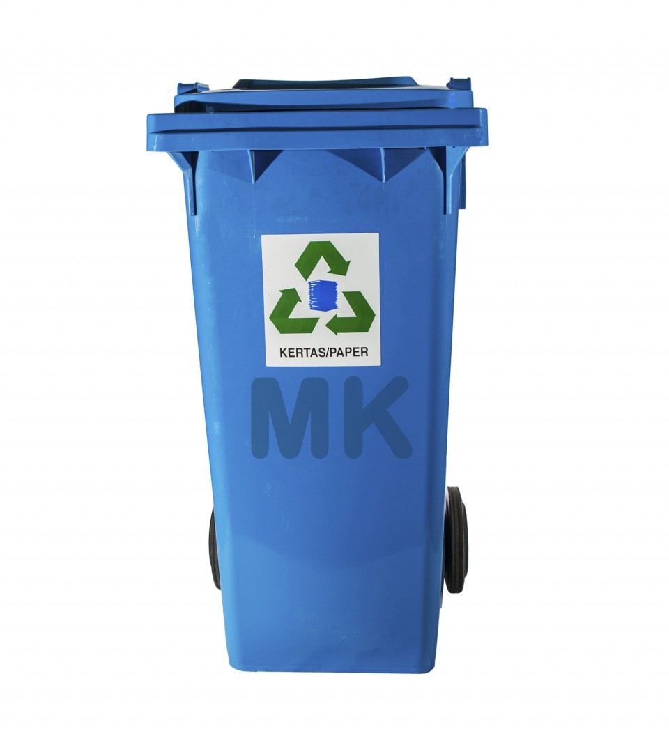 120L 2 Wheel Recycle Bin B