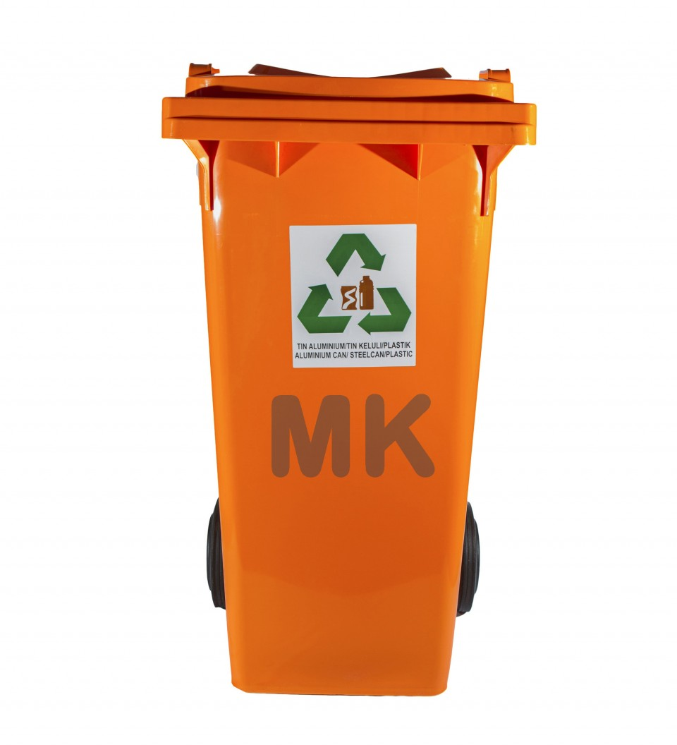 120L 2 Wheel Recycle Bin O