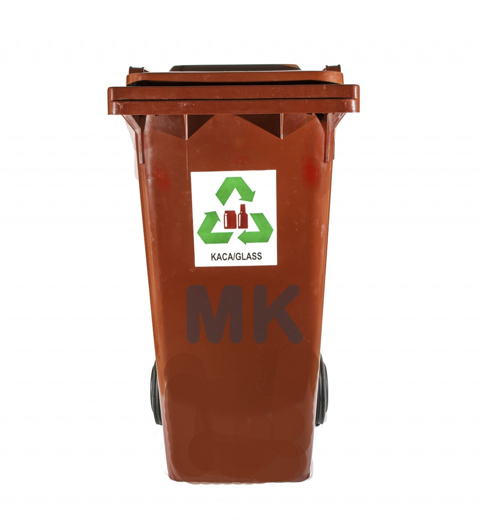 120L 2 Wheel Recycle Bin R